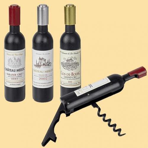 פתחן מלצרים בעיצוב בקבוק יין קטן