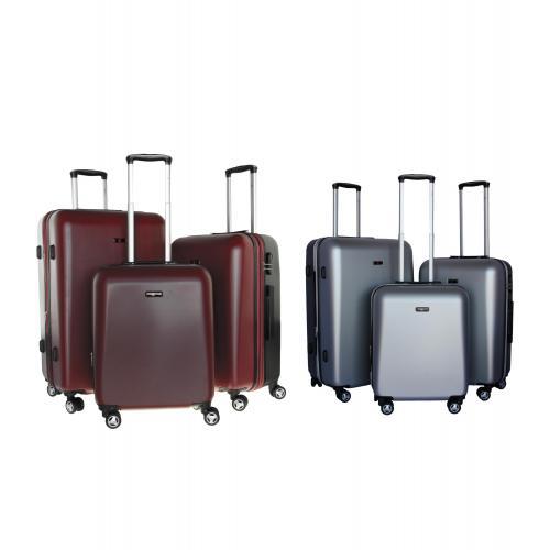 סט 3 מזוודות קשיחות ואיכותיות מבית   SWISS VOYAGER טרולי מיוחד ובלעדי - מומלץ!