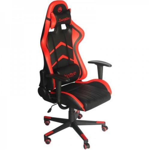 כיסא מעור סינטטי מעוצב ומאובזר לגיימרים כולל אפשרות שכיבה של MARVO