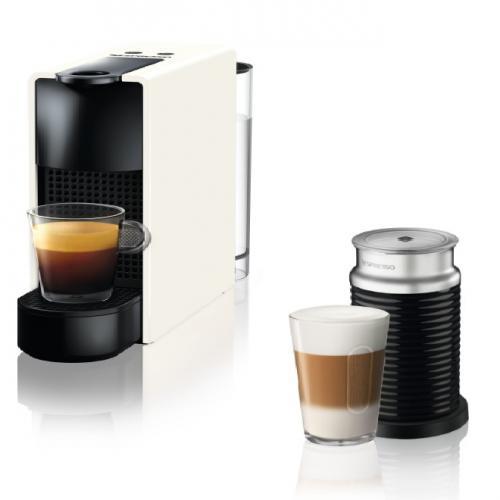 מכונת קפה נספרסו כולל מקציף  בצבע לבן- יבואן רישמי