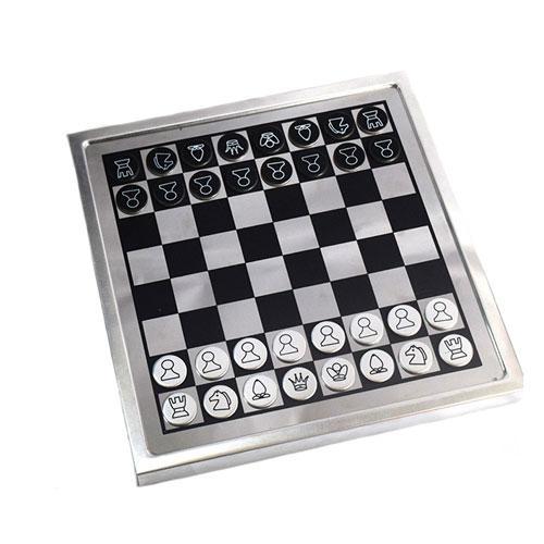 משחק מנהלים שח מט ודמקה מאלומיניום