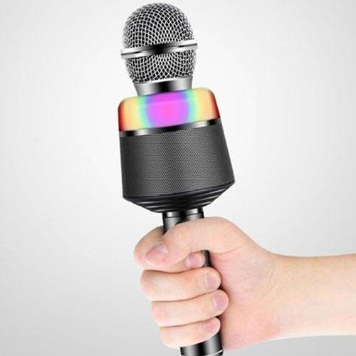 מיקרופון משולב תאורת LED צבעונית