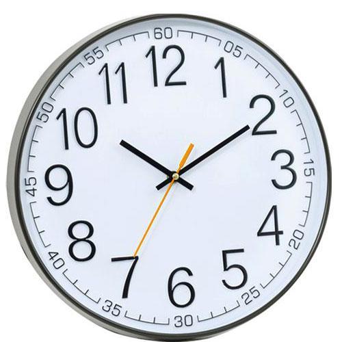 שעון קיר עגול בעל מנגנון שקט
