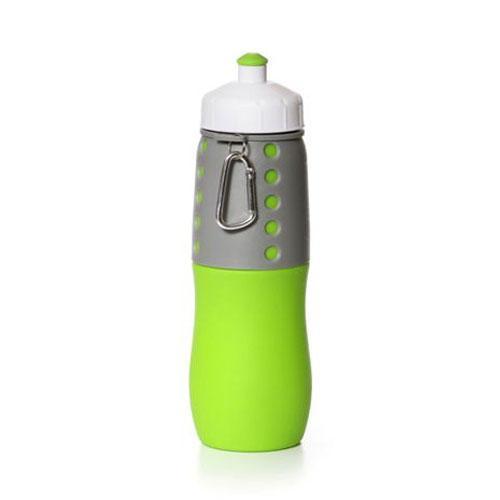 בקבוק ספורט מתקפל מסיליקון בשילוב פלאסטיק קשיח