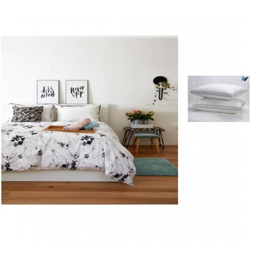 מארז למיטה 2 סטים מצעים זוגי איכותי וכרית רוזן כיתן