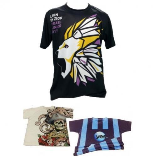 חולצות דריפיט מודפסות צבעונית בגודל מלא