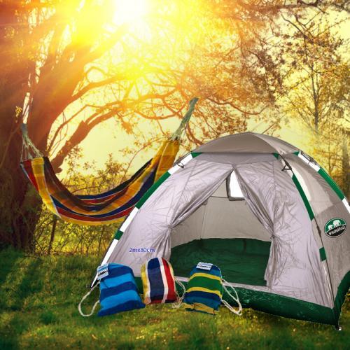 אוהל בן רגע רב-עונתי ל-4 וערסל שכיבה