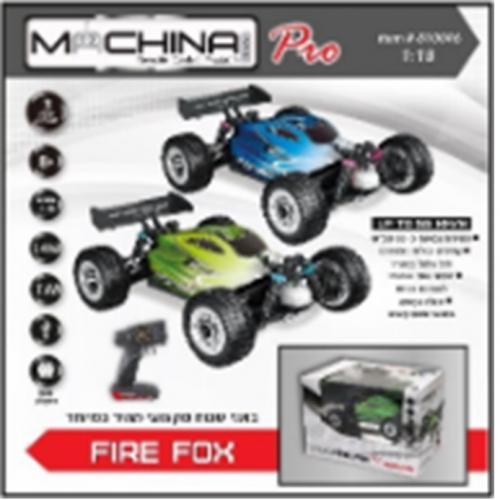 """מכונית מרוץ כ-55 קמ""""ש RED FOX 1:18"""